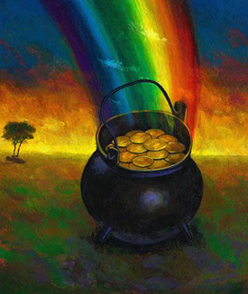 Pot Of Gold Irish Legend