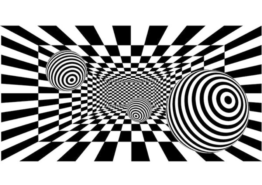 Line Optical Designing : Lines create illusions op art la mariposa pawprint