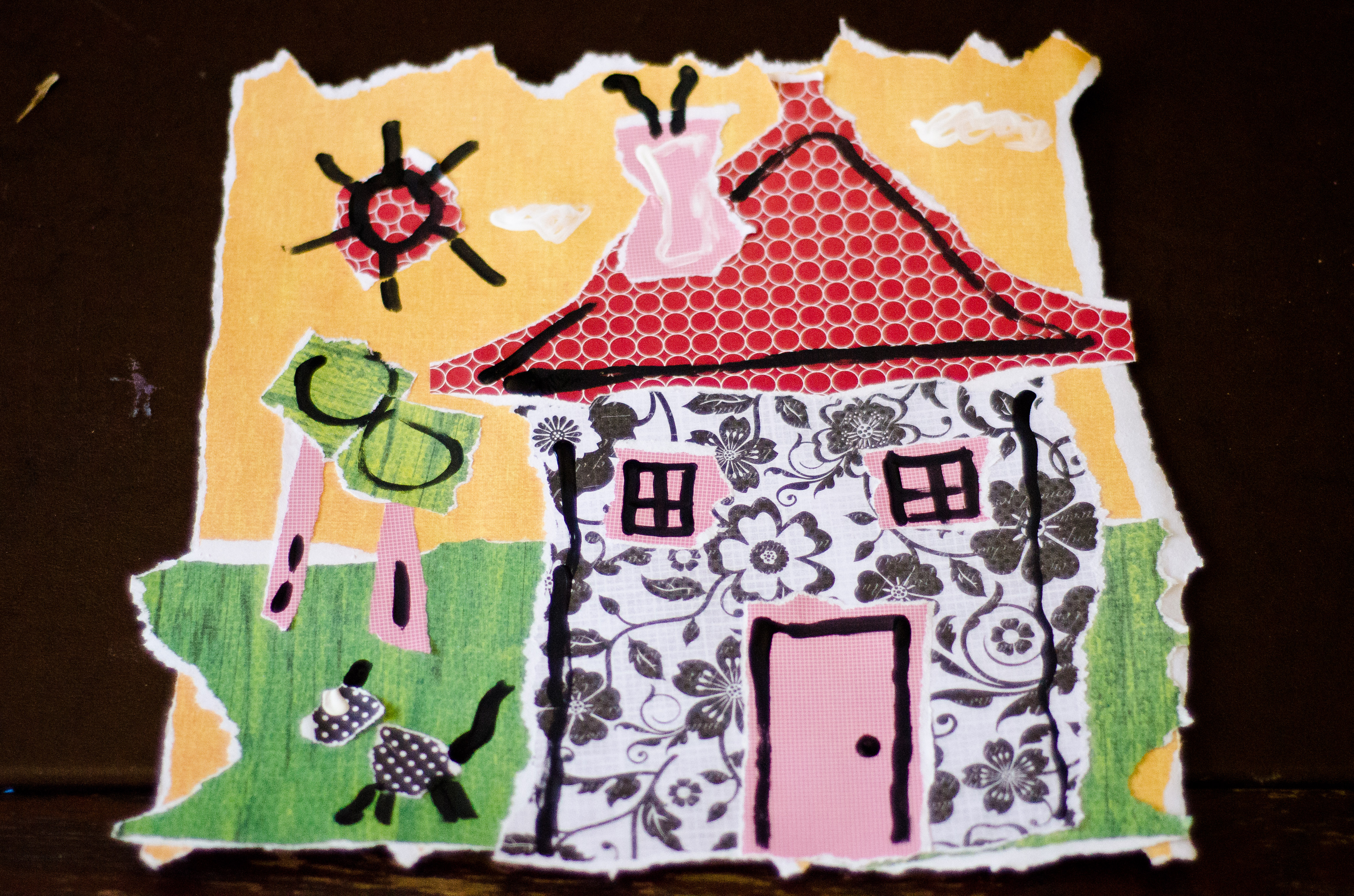 Scrapbook paper collage - In This Lesson Students Will Use Scrapbook Paper To Work With Color And Pattern In Order To Create A Cohesive Composition For A Torn Paper Collage