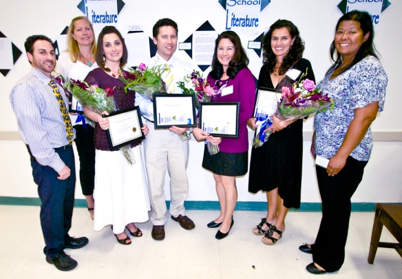 Left to right:  Jay Greenlinger, Principal; Julie Hughes, HSA; Michelle Fisher, CSA; Dr. Chad Wright, VSP; Dorothy Hanchey, HSA; Patti Stouch, HSA; Cindy Laudato-Wong, President