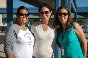 PTA President Cindy Laudato-Wong (left), PTA Hospitality Chair Sheri Long (middle), and Principal Erica Williams (right)