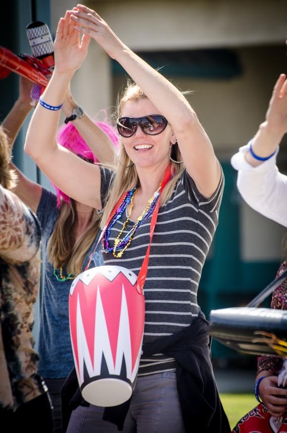 Mrs. Jaquez on the bongo.