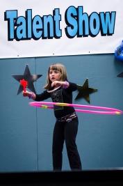 Sarah does a wicked hula hoop