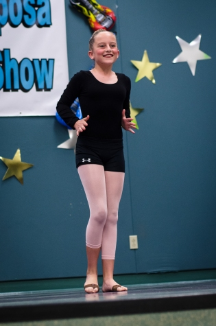 Cate doing a lyrical dance.