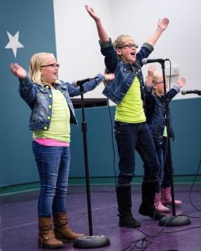 "Alexa, Bryn, and Lori singing ""Brave"""