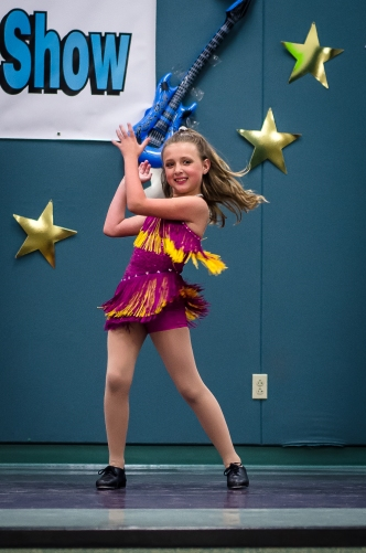 Jordyn Michelson, doing a tap dance.