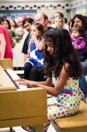 Veda playing Beethoven's 5th Symphony