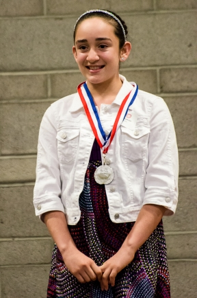 Sophia and her silver medal is Speech.