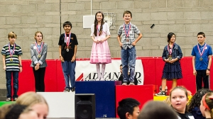 Haley is the first girl in seventeen years to win gold in Science.  Go girl!