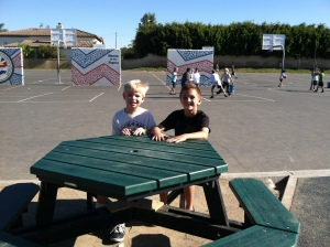 Buddy Bench_Christian and Noah